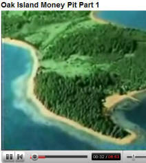 Lost Treasure Online and more.  Oak Island Mystery video TV shows about Oak Island on YouTube [new window]