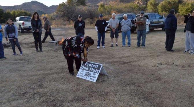 Apaches are concerned it would affect nearby Oak Flat, which from time immemorial has been the site of ancient traditional ceremonies like their sunrise dances that mark the passage of young girls to womanhood.
