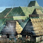 "Mississippian tradition was for immense, flat-topped ""pyramids, "" or earthen platform mounds."