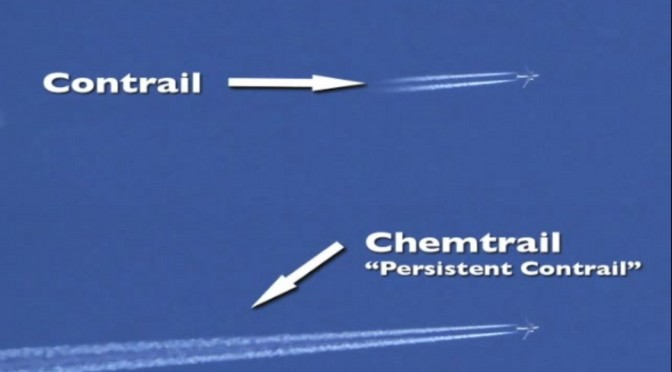Easily see the difference between chemtrails and contrails.